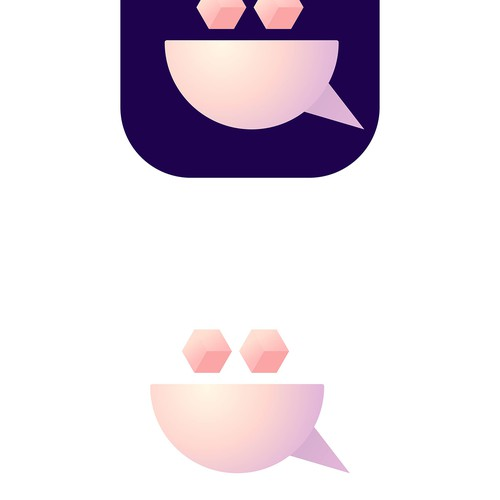 Logo design for mobile app that lets you chat with other neighbors in your building ver. 2