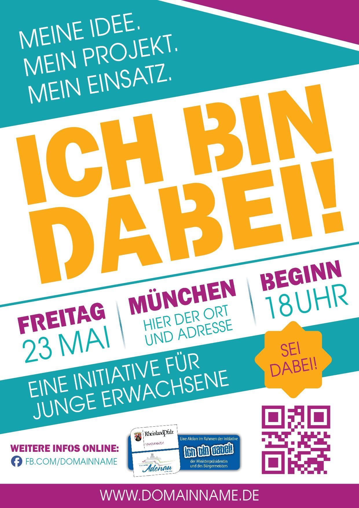 Plakat Ehrenamt junge Erwachsene
