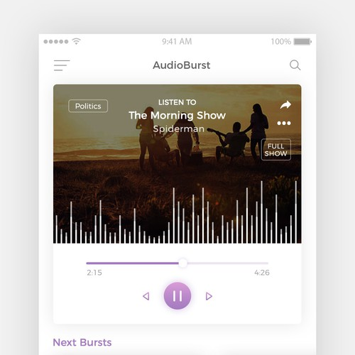 AudiBurst - the next gen of online audio experience