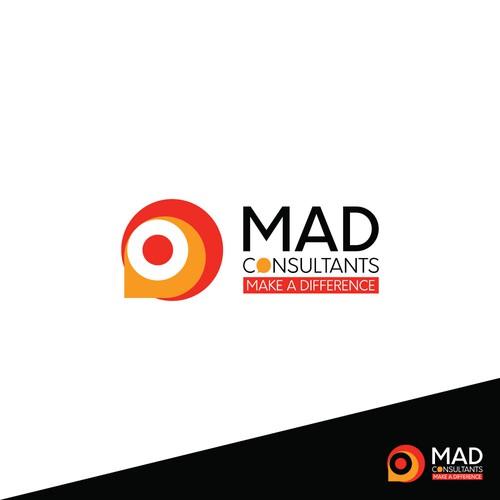Finalist logo design for Mad Consultants contest.