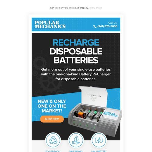 Email design for Popular Mechanics