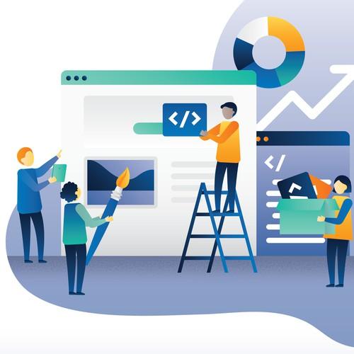 Web illustration for web design agency