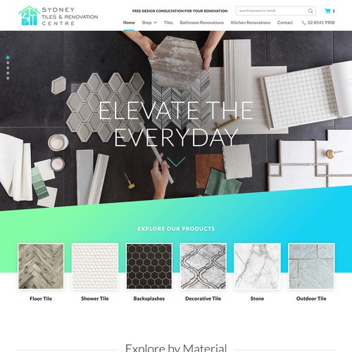 Website for a Tile Showroom