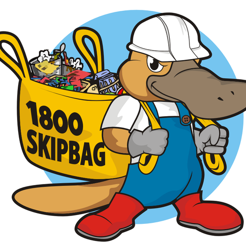 logo design, mascot for skipbag