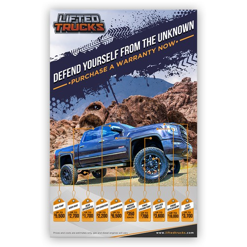 Create The Latest & Greatest Used Truck Warranty Poster!