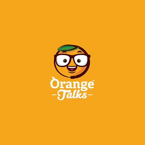 orange talk logo concept