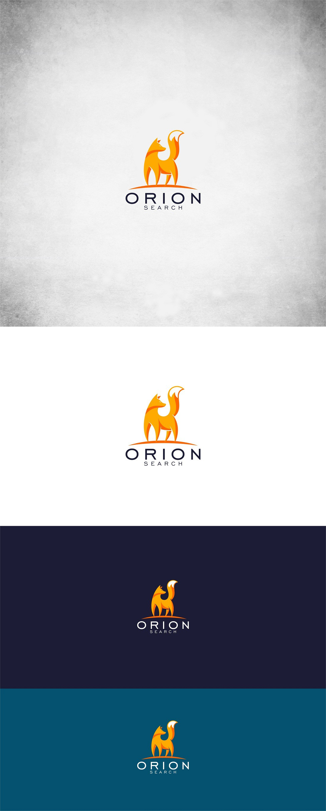 Create a professional and modern logo that incorporates a fox for a recruitment agency