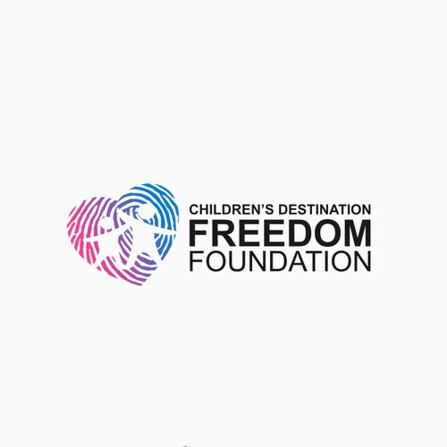 Modern logo for Children's Destination Freedom Foundation