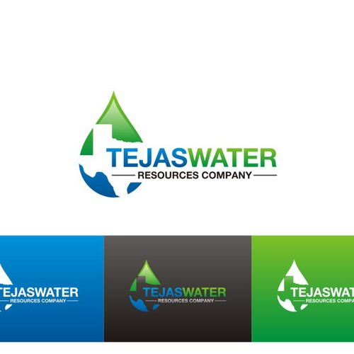Create a corporate logo for a company that develops water sources for Texas.