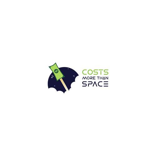 concept logo for money flying