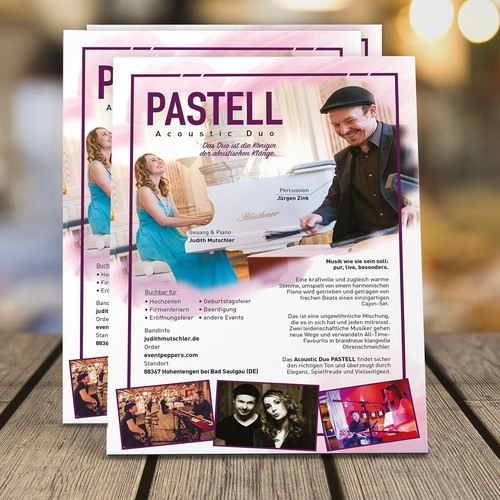 A5 Flyer - PASTELL Acoustic Duo