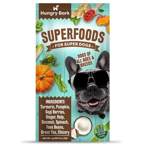 Modern package design concept for dog food