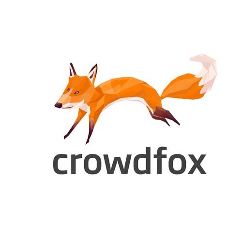 Abstract Fox Mascot Character Design