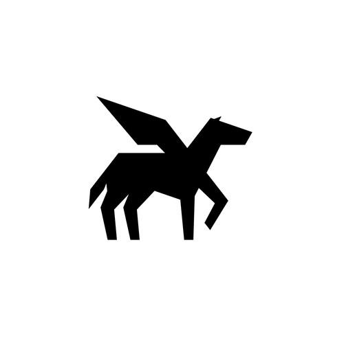 Pegasus geometric logo
