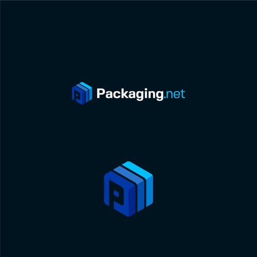Conceito de logo para Packaging.net