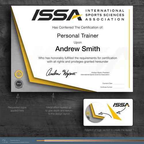 ISSA Certificate Design