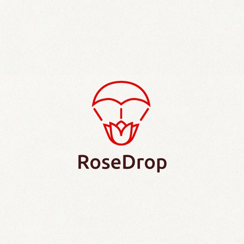 Clean logo for an airborne flower delivery service
