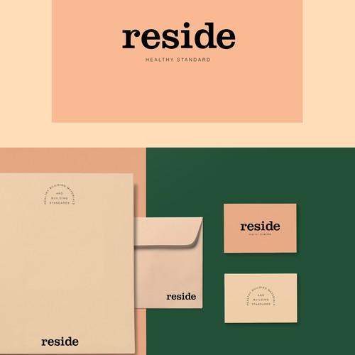 RESIDE Healthy Standard brand identity