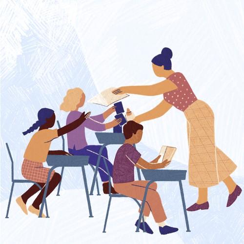 Creative teacher illustration
