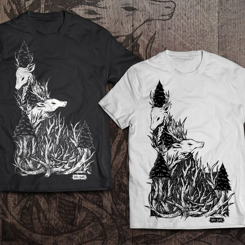 Antler deer t-shirt Design