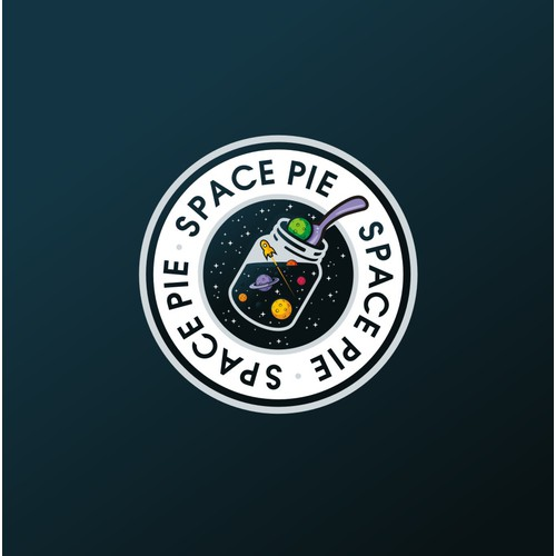 Design a fun, eye-catching logo for a delicious new food - SPACE PIE!