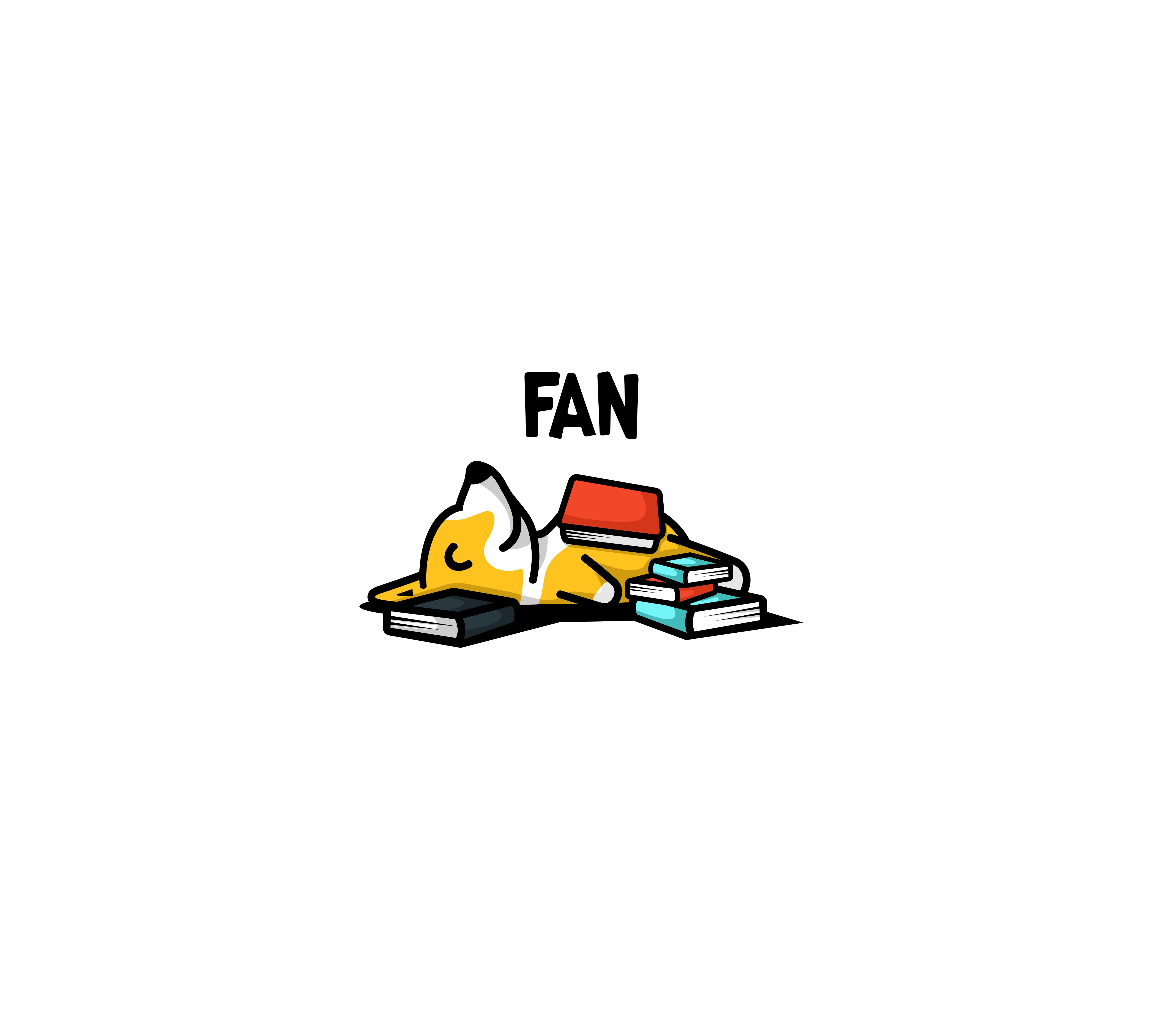 Book Lover's app desires a loveable cartoon character logo