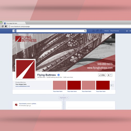 Facebook Cover for Flying Buttress, alternative