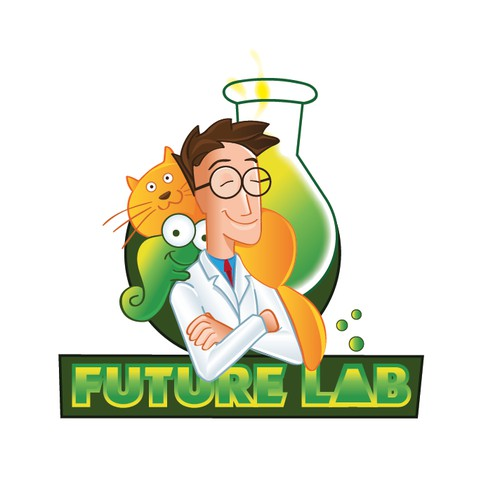 logo concept for an animal pharmacy lab