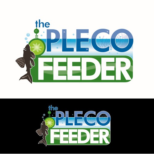 Create a new logo for The Pleco Feeder : An aquarium fish feeding device