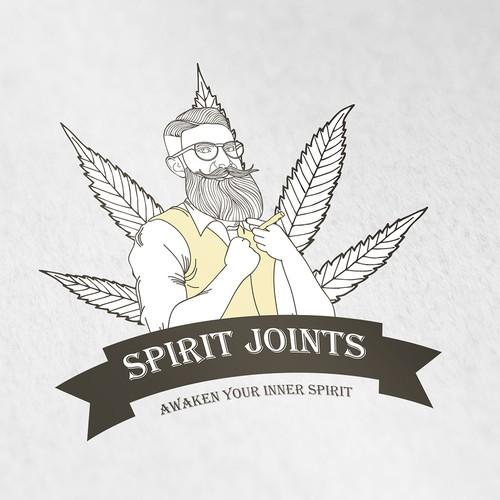 Spirit joints, vintage logo design concept.