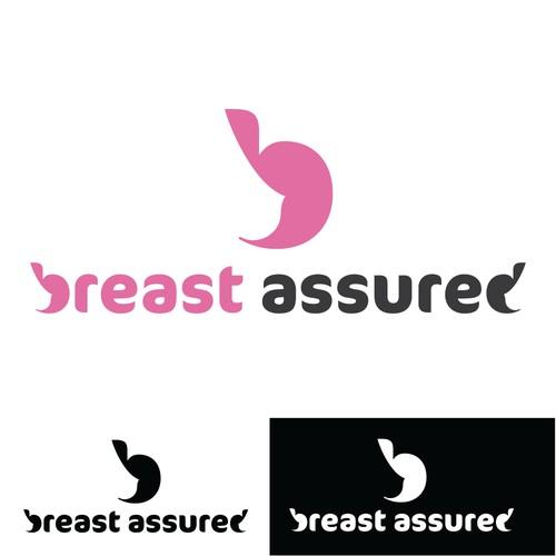 Sleek simple logo design for a breast feeding app
