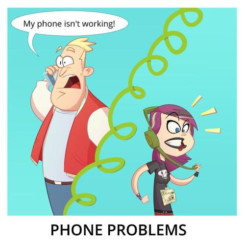 Comic Panel - Phone Problems