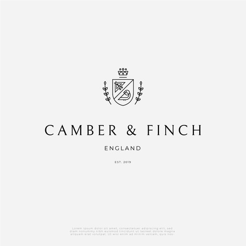 Crest logo for a British tailoring company