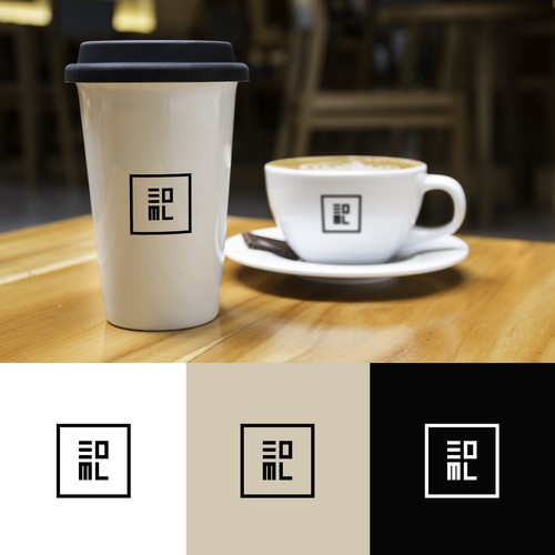 Creative logo design for the petite cafe 30ml