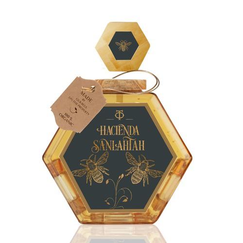 Honey Label for Hacienda Sanlahtah