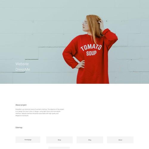 DressMe - Online store