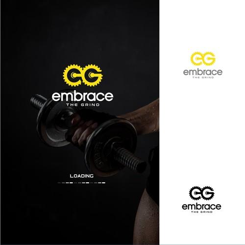 "Fitness brand logo design for ""Embrace The Grind"""