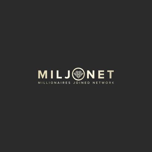 Create a wealthy logo for Miljonet