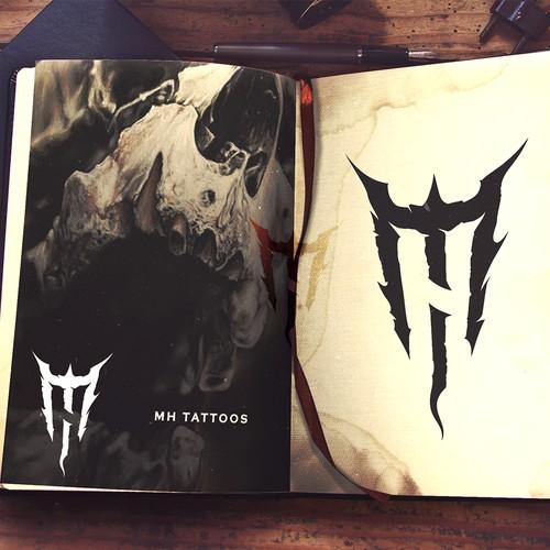 Darkart logo for an up & coming tattoo artist.
