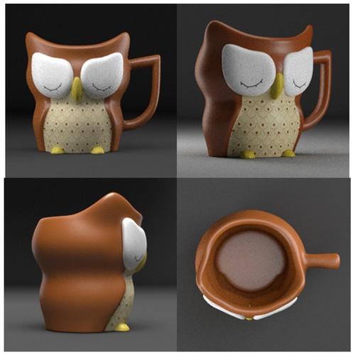 3D Unique Owl Mug