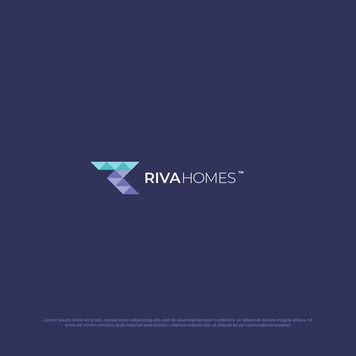 Geometry Logo Design for Riva Homes