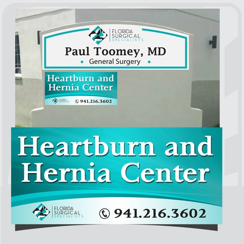 Signage for Heartburn and Hernia Center