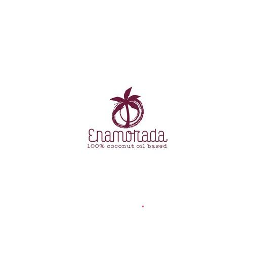 Logo for a 100% coconut based skin care company