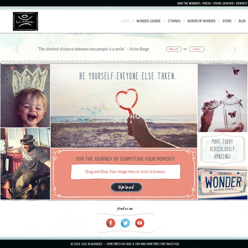Design a site to inspire wonder for a global lifestyle brand.