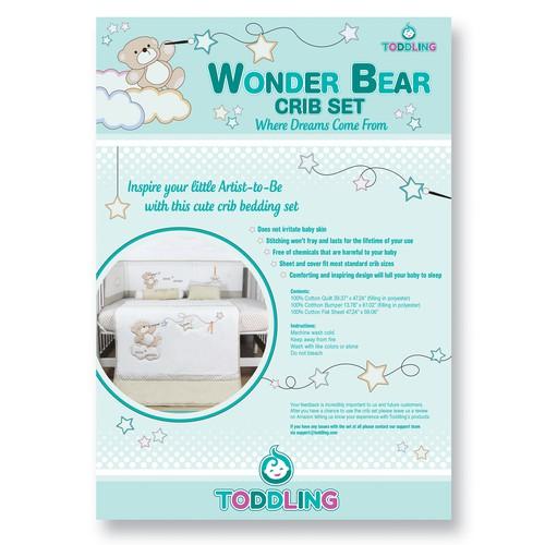 Crib Set Info Sheet for Baby Boys