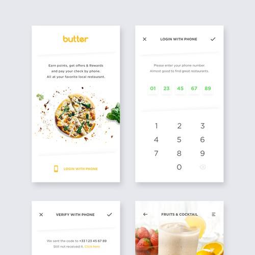 Restaurant Reward App Design
