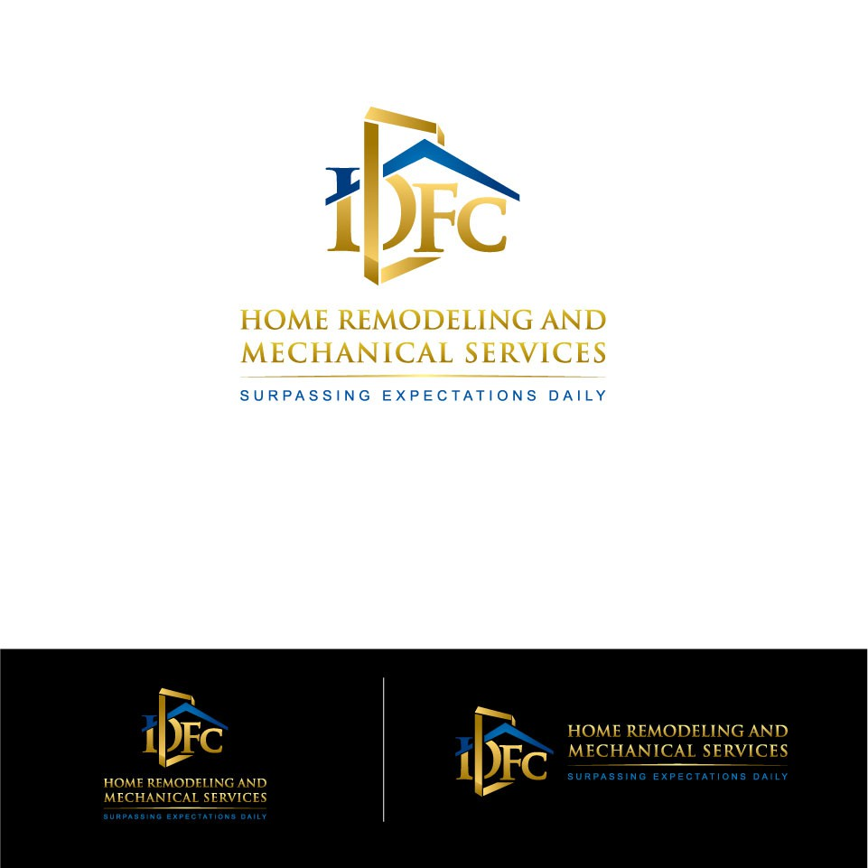 logo and business card for DFC Home Remodeling and Mechanical Services