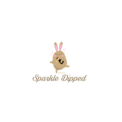 super fun/glam/kawaii logo for Sparkle Dipped