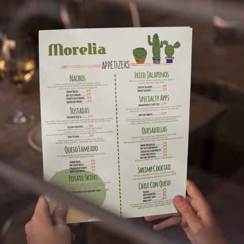 menu concept for mexican restaurant