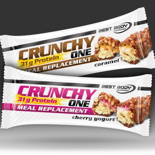 Created a modern & tasty design for a meal replacement protein bar